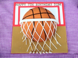 Basketball Party Cake 1
